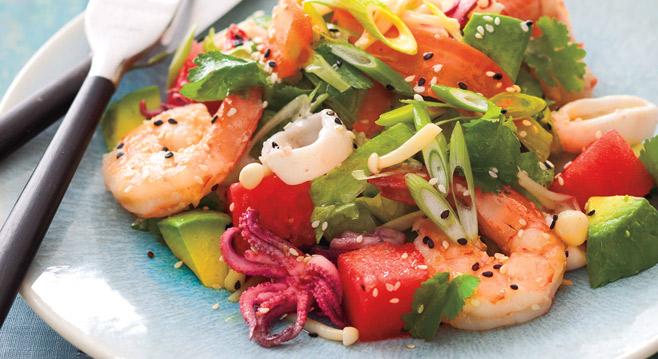 Рецепты салатов морепродуктов фотографиями