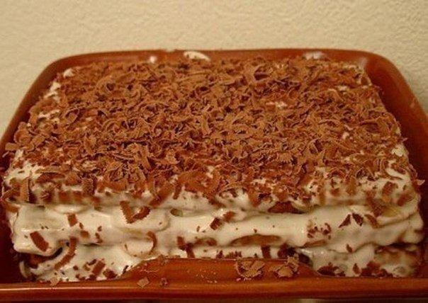 как приготовить торт из галетного печенья